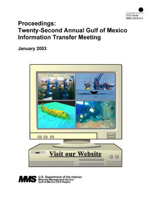 Primary view of object titled 'Proceedings: Twenty-Second Annual Gulf of Mexico Information Transfer Meeting'.