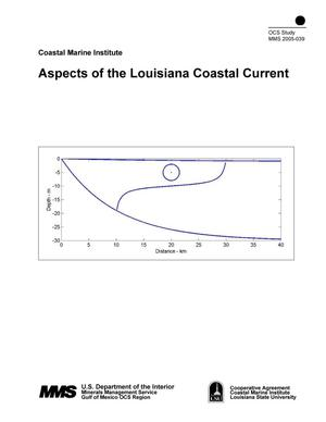 Primary view of object titled 'Aspects of the Louisiana Coastal Current'.