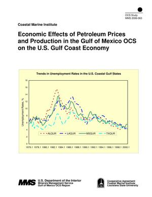 Primary view of object titled 'Economic Effects of Petroleum Prices and Production in the Gulf of Mexico OCS on the U.S. Gulf Coast Economy'.