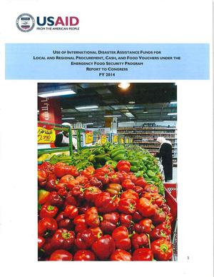 Primary view of object titled 'Emergency Food Security Program Report FY 2014'.