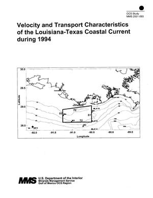 Primary view of object titled 'Velocity and Transport Characteristics of the Louisiana-Texas Coastal Current during 1994'.