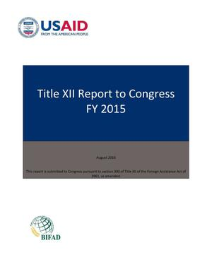 Primary view of object titled 'Title XII Report to Congress FY 2015'.