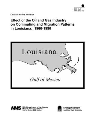 Primary view of object titled 'Effect of the Oil and Gas Industry on Commuting and Migration Patterns in Louisiana: 1960-1990'.