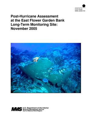 Primary view of object titled 'Post-Hurricane Assessment at the East Flower Garden Bank Long-Term Monitoring Site: November 2005'.