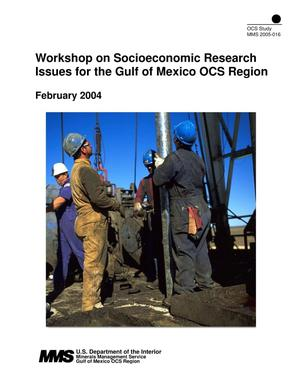 Primary view of object titled 'Workshop on Socioeconomic Research Issues for the Gulf of Mexico OCS Region'.