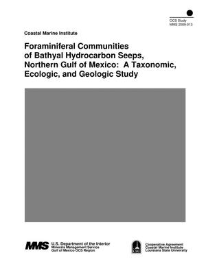 Primary view of object titled 'Foraminiferal Communities of Bathyal Hydrocarbon Seeps, Northern Gulf of Mexico: A Taxonomic, Ecologic, and Geologic Study'.