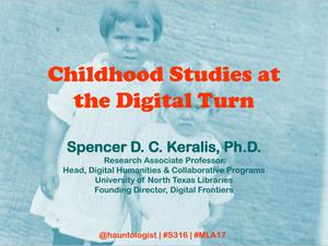Primary view of object titled 'Childhood Studies at the Digital Turn'.