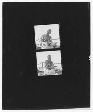 Primary view of object titled '[Stan Kenton at a Beach]'.