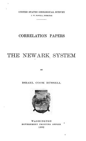 Primary view of object titled 'Correlation Papers: the Newark System'.