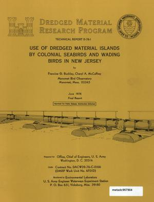 Primary view of object titled 'Use of Dredged Material Islands by Colonial Seabirds and Wading Birds in New Jersey'.