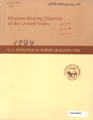 Primary view of object titled 'Bitumen-Bearing Deposits of the United States'.