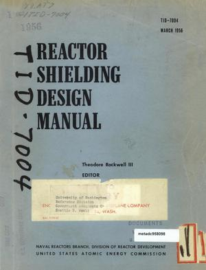 Primary view of object titled 'Reactor Shielding Design Manual'.