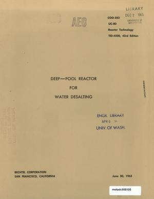 Primary view of object titled 'Deep-Pool Reactor for Water Desalting'.