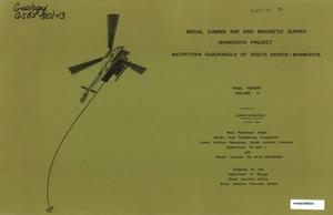 Primary view of object titled 'Aerial Gamma Ray and Magnetic Survey, Final Report. Volume 2: Watertown Quadrangle of South Dakota/Minnesota'.