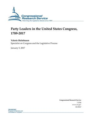 Primary view of object titled 'Party Leaders in the United States Congress, 1789-2017'.