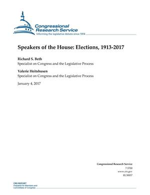 Primary view of object titled 'Speakers of the House: Elections, 1913-2017'.