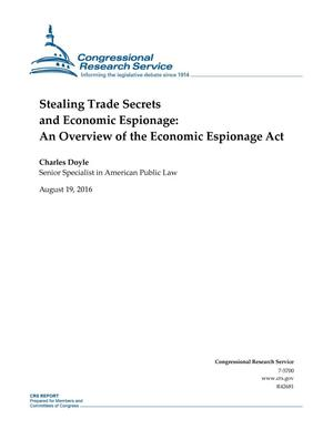 Primary view of object titled 'Stealing Trade Secrets and Economic Espionage: An Overview of the Economic Espionage Act'.