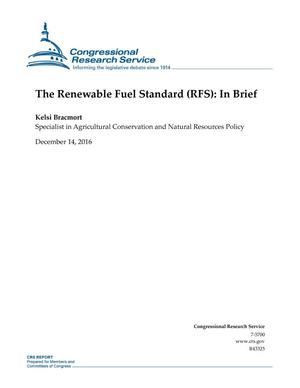 Primary view of object titled 'The Renewable Fuel Standard (RFS): In Brief'.