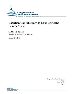 Primary view of object titled 'Coalition Contributions to Countering the Islamic State'.