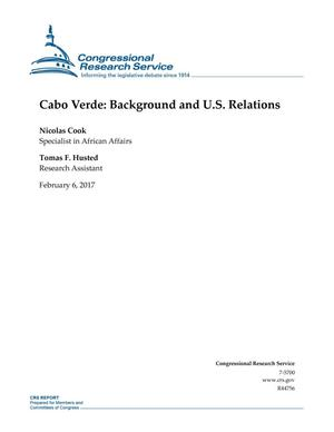 Primary view of object titled 'Cabo Verde: Background and U.S. Relations'.