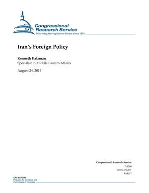 Primary view of object titled 'Iran's Foreign Policy'.
