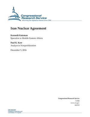 Primary view of object titled 'Iran Nuclear Agreement'.