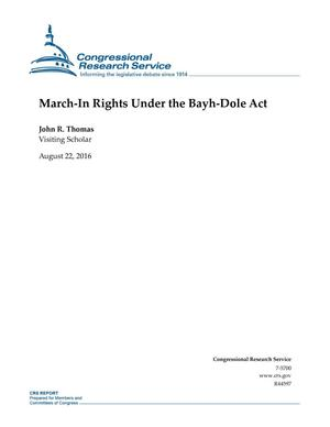 Primary view of object titled 'March-In Rights Under the Bayh-Dole Act'.