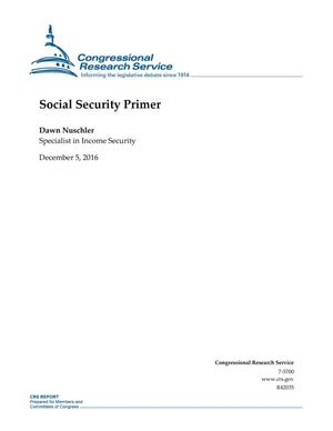 Primary view of object titled 'Social Security Primer'.