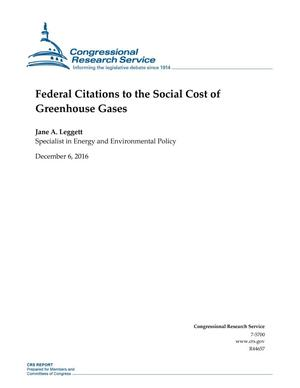 Primary view of object titled 'Federal Citations to the Social Cost of Greenhouse Gases'.
