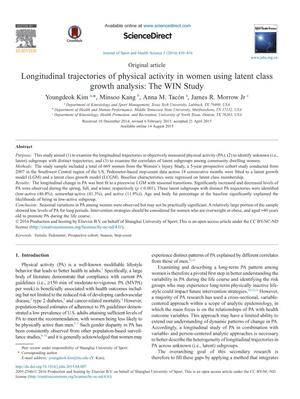 Longitudinal trajectories of physical activity in women using latent class growth analysis: The WIN Study