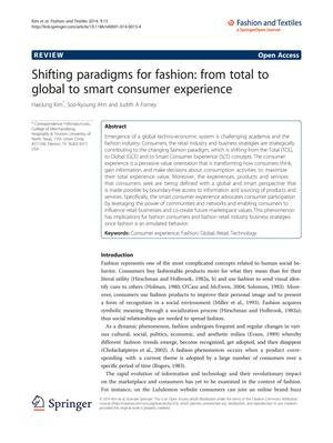 Primary view of object titled 'Shifting paradigms for fashion: from total to global to smart consumer experience'.