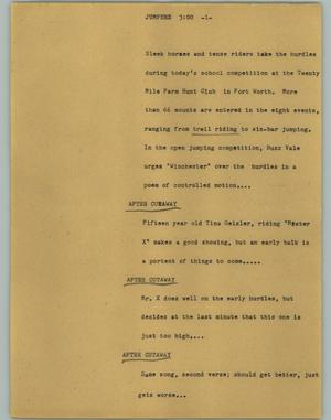 Primary view of object titled '[News Script: Jumpers]'.