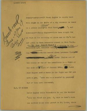 Primary view of object titled '[News Script: Lineup]'.