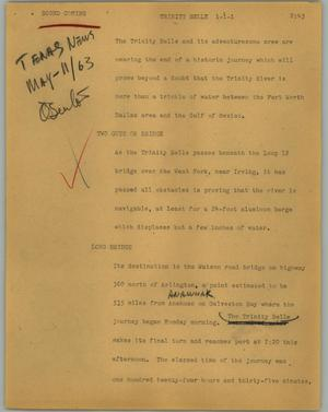 Primary view of object titled '[News Script: Trinity Belle]'.