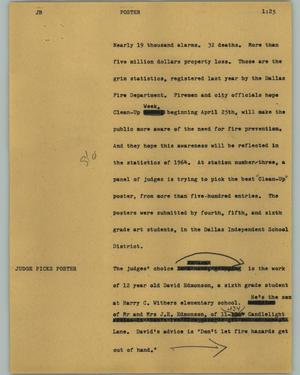 Primary view of object titled '[News Script: Poster]'.