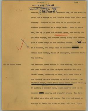 Primary view of object titled '[News Script: Trinity]'.