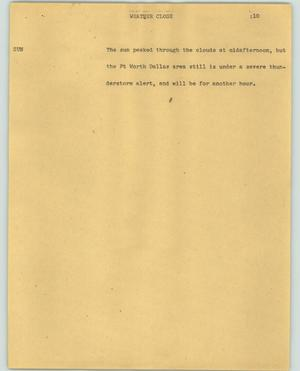 Primary view of object titled '[News Script: Weather close]'.