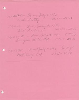Individual Program List, July-October 1982