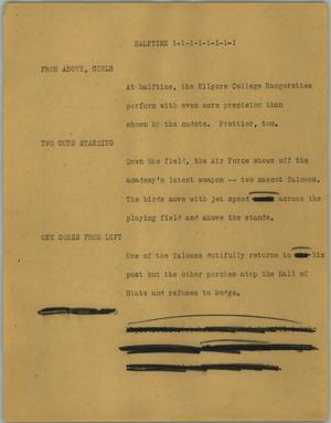 Primary view of object titled '[News Script: Halftime]'.