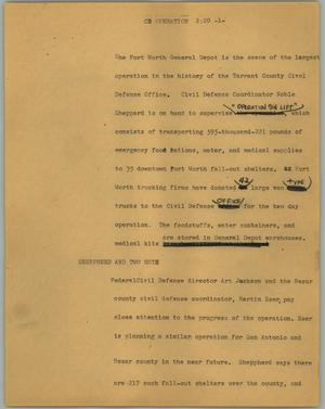 Primary view of object titled '[News Script: CD operation]'.