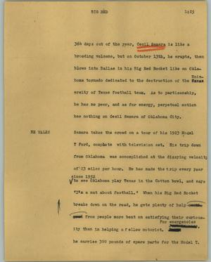Primary view of object titled '[News Script: Big Red]'.