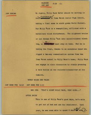 Primary view of object titled '[News Script: Bleeder]'.