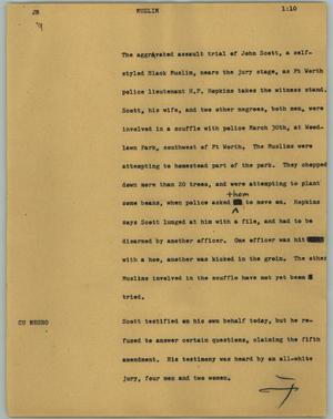 Primary view of object titled '[News Script: Muslim]'.