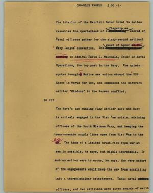 Primary view of object titled '[News Script: CNO-Blue Angels]'.