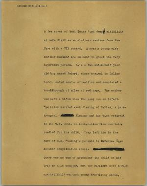 Primary view of object titled '[News Script: German kid]'.