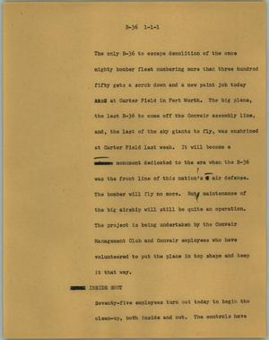 Primary view of object titled '[News Script: Major]'.