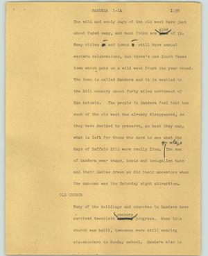 Primary view of object titled '[News Script: Bandera]'.