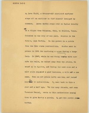 Primary view of object titled '[News Script: Gordon]'.