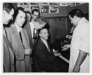 Primary view of object titled '[Stan Kenton with Band Members]'.