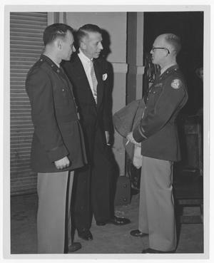 Primary view of object titled '[Stan Kenton with Officers]'.